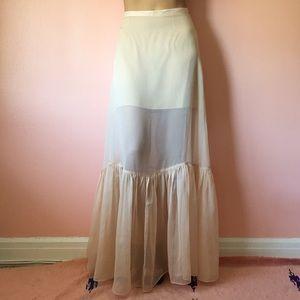 Keepsake Dresses & Skirts - 🍦HP🍦Keepsake Sheer Textured Flounce Maxi Skirt