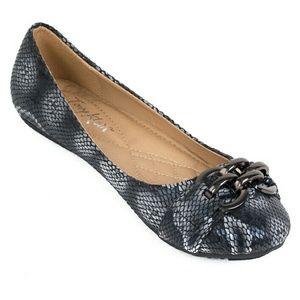 Tory K Shoes - Women Ballerina Chain Buckle Flats, b1621, Black