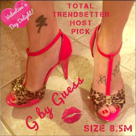27eac34a13 G by Guess Shoes | Hp Sexy Leopard Tstrap Stilettos | Poshmark