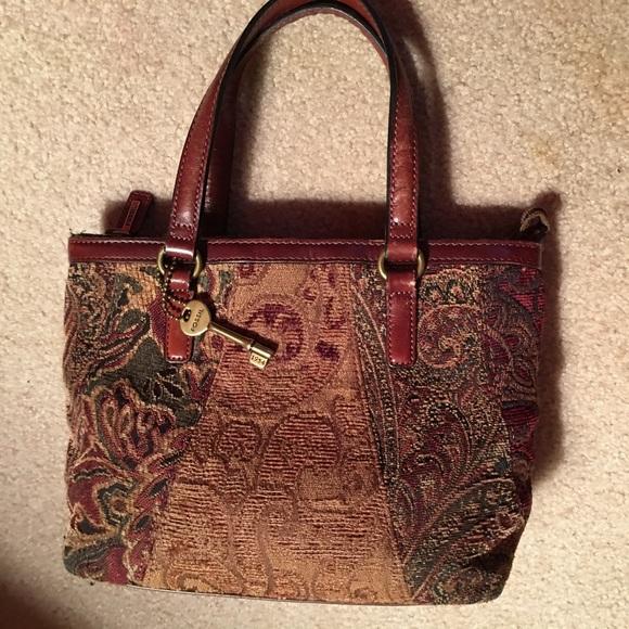 1e474c55ea Fossil Handbags - Fossil Tapestry Carpet Bag Handbag