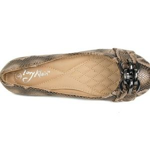 Tory Klein Shoes - Women Ballet Chain Buckle Flats, b1621, Taupe
