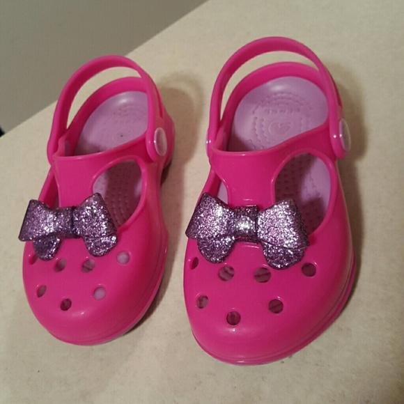 d722e6f7ea6a7 CROCS Other - Kids Carlie Glitter Bo Mary Jane Bow