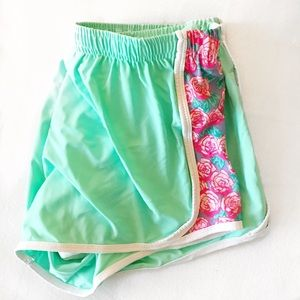Lilly Pulitzer Pants - Mint / Floral print Running Shorts