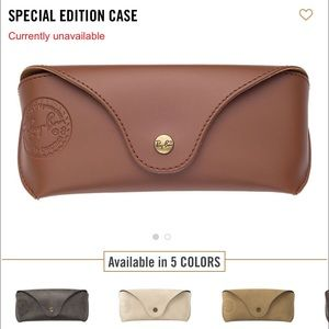Ray-Ban Other - special edition leather case