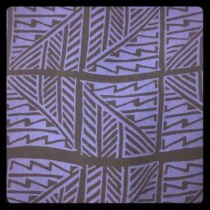 Aztec Mayan blue black sleeveless blouse M work