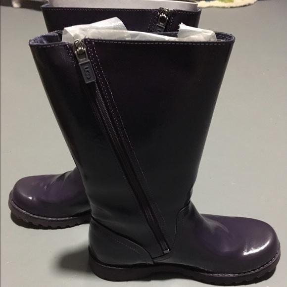 ugg shoes kids amilia patent leather boots poshmark rh poshmark com