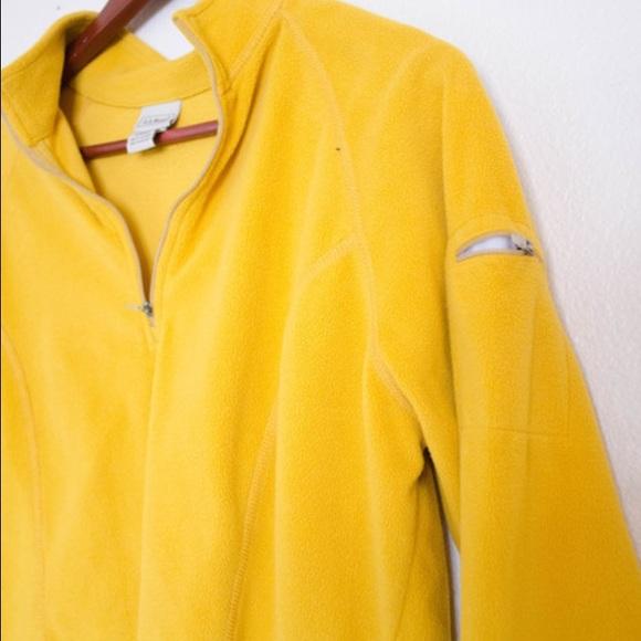 82% off L.L. Bean Jackets & Blazers - LL Bean Yellow Fleece ...