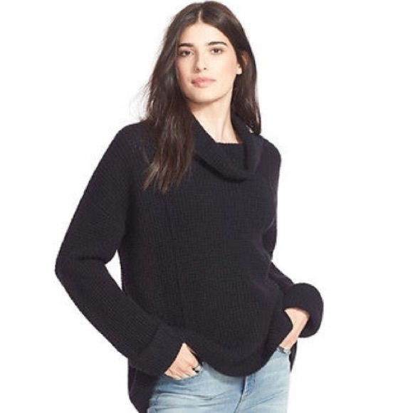 81% off Free People Sweaters - Free People Turtleneck Waffle ...