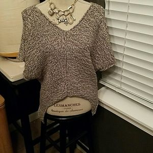 Cut 25 grey and white blend thick knit sweater