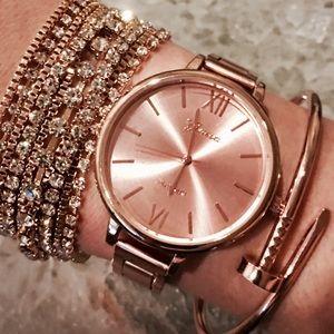 Rose Gold Metal Link Watch