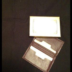 ELSINGER EXECUTIVE LEATHER BUSINESS CARD HOLDER
