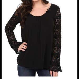 Stetson Tops - Stetson Lace Sleeve Blouse