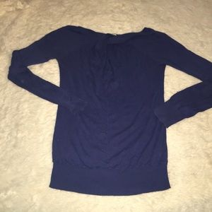Trouve Sweaters - Blue long sleeve sweater