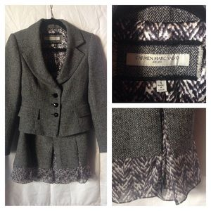Carmen Marc Valvo Jackets & Blazers - 3-piece skirt suit