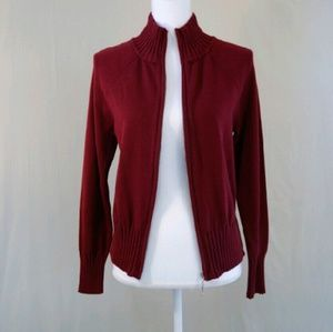 Dress Barn Jackets & Blazers - NWT Red Zipup Knit Jacket with Cable Detail