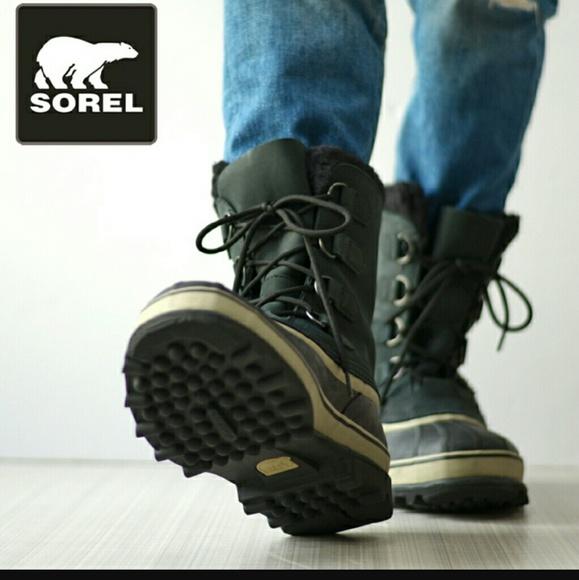 Sorel Caribou Mens Waterproof Black
