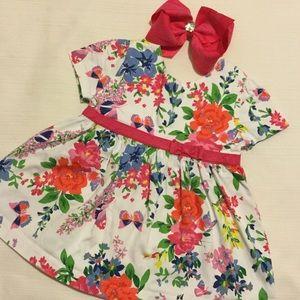 Hartstrings Other - ❤️hartstrings lovely flower blouse size 4 girls