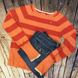 American Eagle Outfitters Sweaters - AMERICAN EAGLE OUTFITTERS STRIPED SWEATER