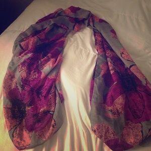 Oversized vintage floral scarf