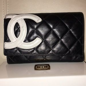 CHANEL Handbags - Authentic Chanel Calfskin Cambon Clutch/Wallet