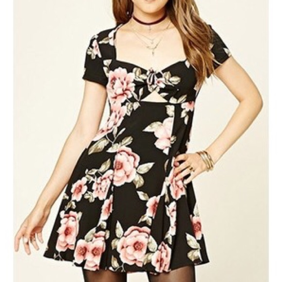 Forever 21 Sweetheart Floral Dress