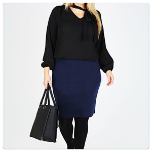 Ellen Tracy Dresses & Skirts - NWT navy blue pencil skirt in size 24W