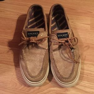 Glittery Gold Sperry's