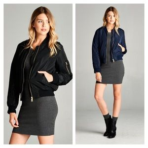 Jackets & Blazers - Host Pick✨ Plus Size Bomber Jacket