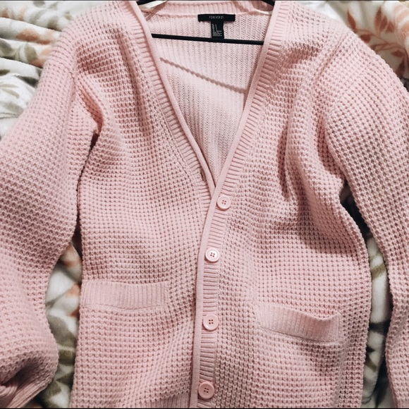 ee7202588ac Forever 21 Sweaters - Pink Arian grande inspired oversized cardigan