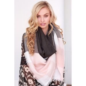 Accessories - New Arrival- Color Block Plaid Blanket Scarf