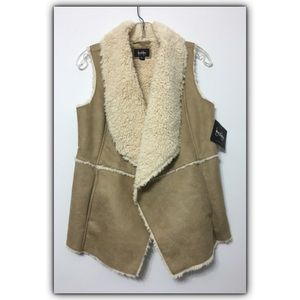 Jackets & Blazers - NEW By & By faux suede, faux shearling vest, sz. M