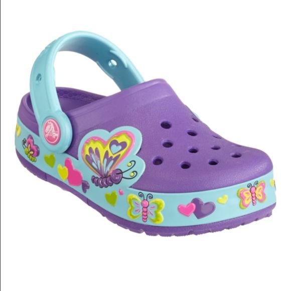 7f905769832 CROCS Other - CROCS kids butterfly light up clogs