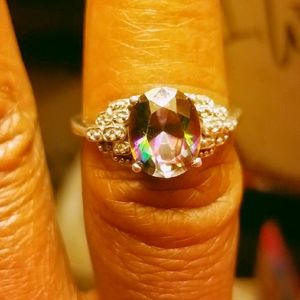 Mystic topaz and diamond
