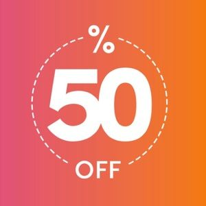 BUY 1 ITEM, GET THE 2ND 50% OFF!!