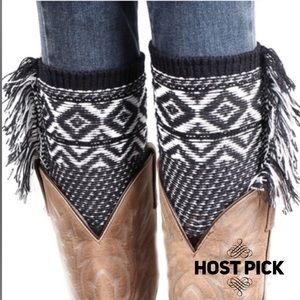 Accessories - Knitted Jacquard Boot Cuffs Leg Warmers Boot Cover