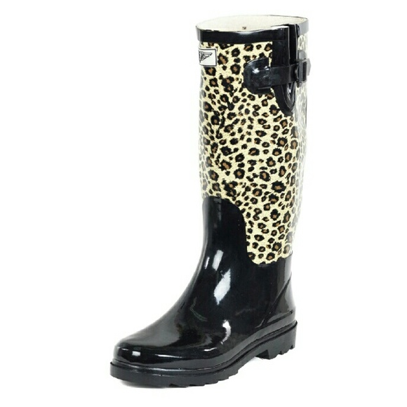 b6514913d926 Women Leopard Design Rubber Rain Boots RB1416 14