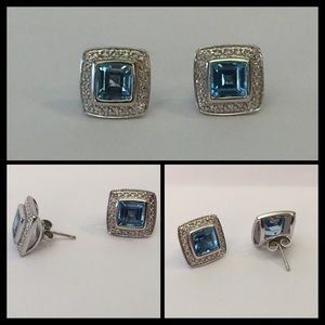 designer Jewelry - Designer Blue Topaz Earrings