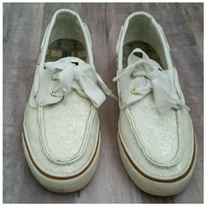 Sperry Top-Sider Shoes - White Sparkly Sperries