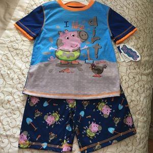 Peppa Pig Other - 🐷NWT Peppa Pig Pajama Set. Boys Sz S(6/7)