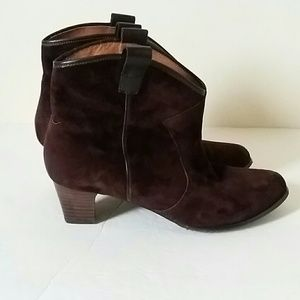 ARRAY  Shoes - BROWN  SUEDE LEATHER WESTERN  ANKLE  BOOTS