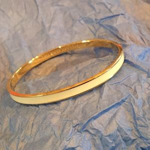 White/gold kate spade bangle bracelet