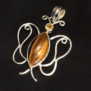 Tiger's Eye & Citrine Pendant