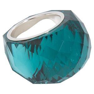 Swarovski green emerald nirvana ring