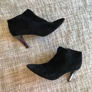 Casadei Shoes - Casadei Black Suede Ankle Booties