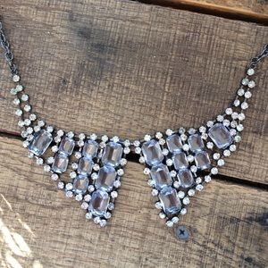 Jewelry - Rhinestone collar necklace (silver and gray)