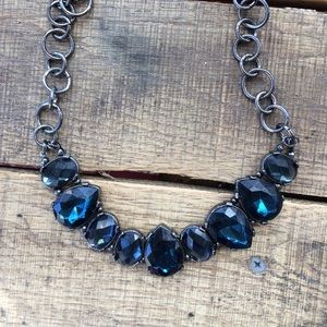 Jewelry - Teal stone silver necklace