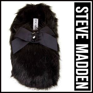 Steve Madden Shoes - STEVE MADDEN SLIPPERS Faux Fur