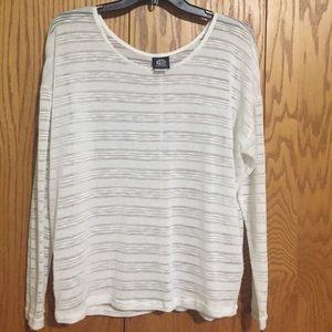 bobeau Tops - Bobeau White See Through Sweater