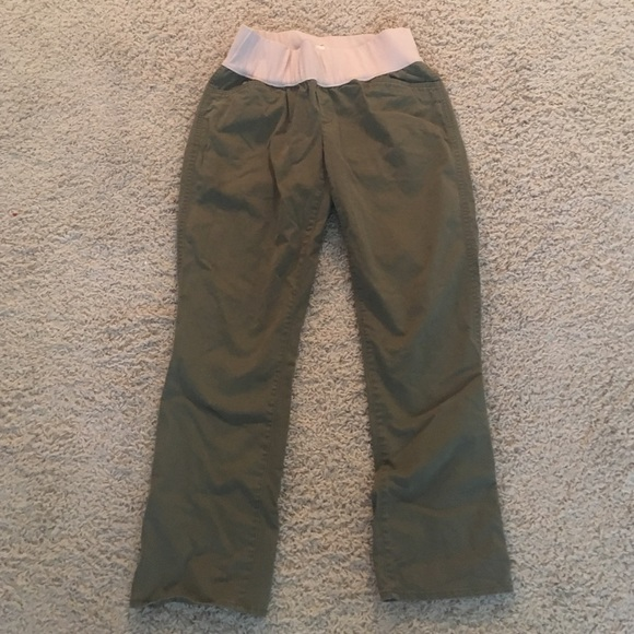 78c9f333e480e GAP Pants | Maternity Demi Panel Olive Green Crop Pant | Poshmark