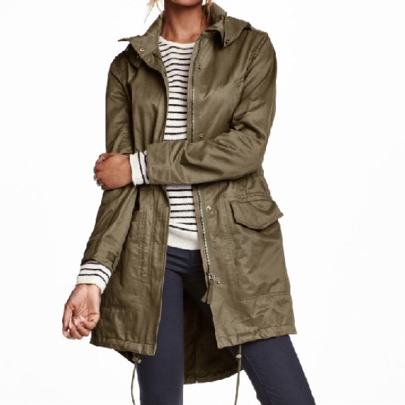 29% off H&M Jackets & Blazers - H&M Olive hooded parka 💲LAST ...